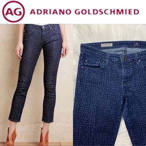 AG Dotted Ankle Jeans
